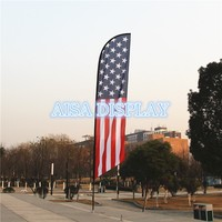 free shipping for 3.5m beach flagpole fabric national flying banner country flag pole and custom flag and base