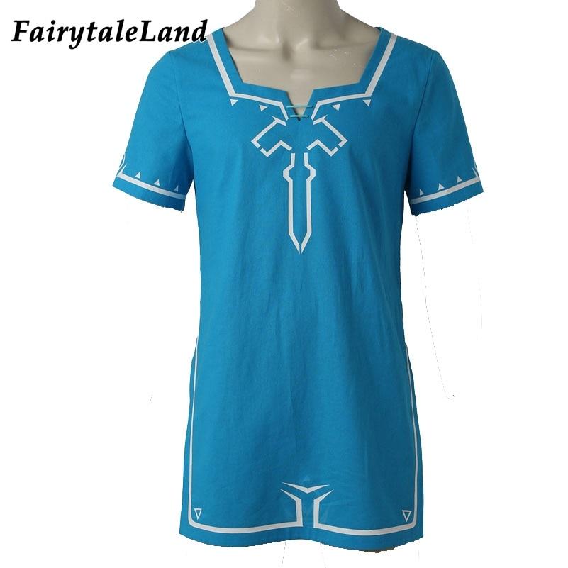 The Legend of Zelda Breath of the Wild Link T shirt Hot game cosplay Halloween Tshirt