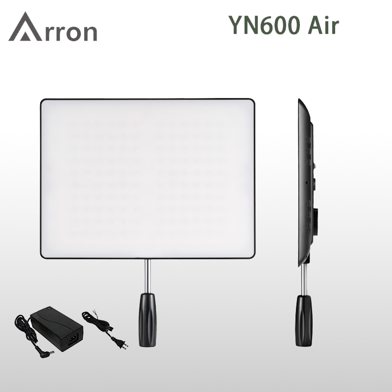 In Stock! YONGNUO Hot <font><b>YN600</b></font> <font><b>Air</b></font> Led Video Light Panel 3200K-5500K Bi-color Photography Studio Lighting image