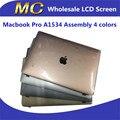 "4 unids/lote original nueva pantalla lcd de pantalla para macbook a1534 12 ""retina asamblea lcd 2304*1440"