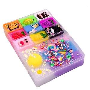Image 4 - 500 ml DIY nuevos personajes Slime arcilla suave elástico fruta muñeca limo niños juguetes para niños Regalo de Cumpleaños de Navidad conjunto