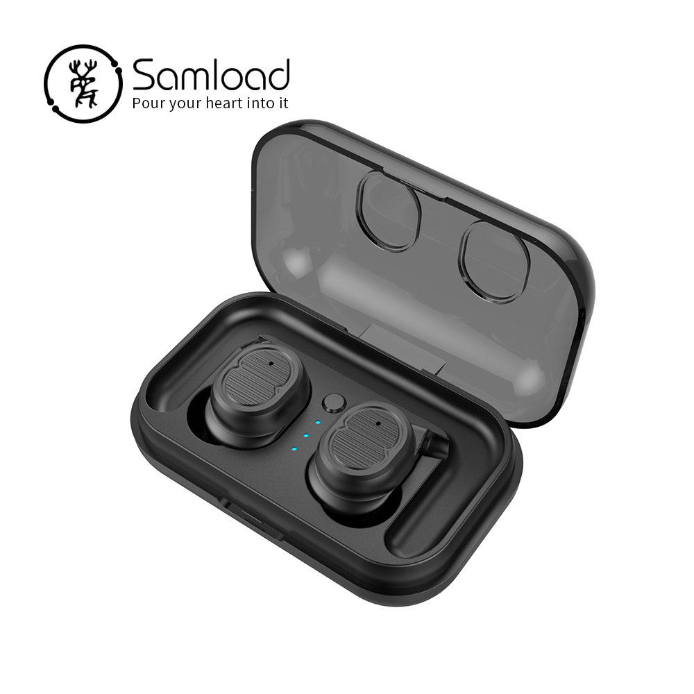 цена на Samload Fashion True Wireless Earbuds Bluetooth 5.0 Stereo Music Earphones Ear hook Headphone For iPhone5s 6 7 8 SE Xiaomi Mix2