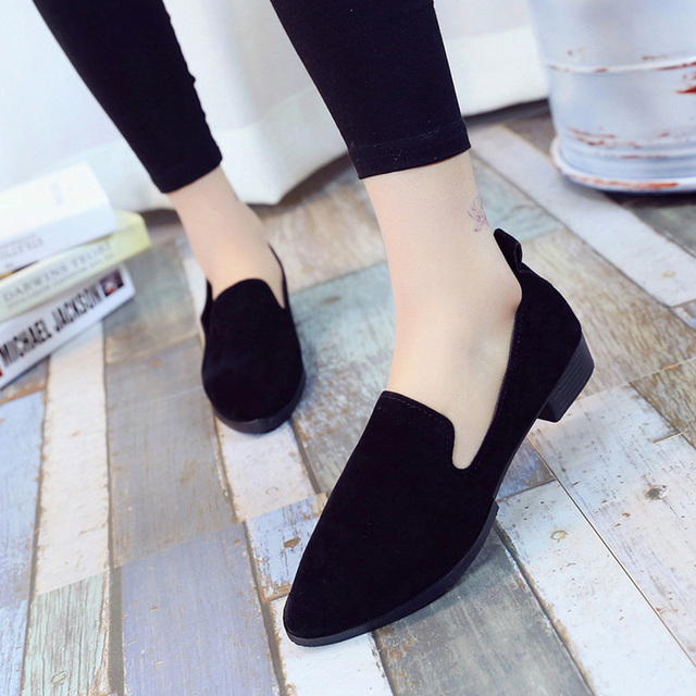 2019 Spring Women Loafers Flats Shoe Women Casual Shoes Suede Slip on Boat shoes Female Shoe Comfortable Ballet Flats Size 35-40 5