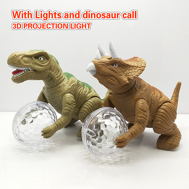 New Child Electric Dinosaur Toy Walking Robot Interactive Stegosaurus Toy With Light And Roaring Sound Kids Model