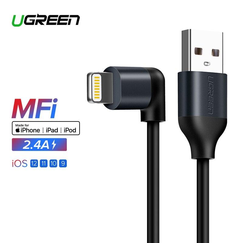 Ugreen para Apple MFi Cable USB para iPhone X Xs X Max XR 2.A relámpago rápido Cable de datos de carga USB para iPhone 8 7 6 s cable del cargador