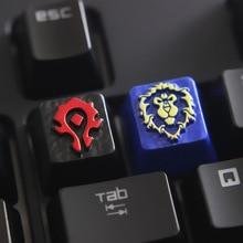 Индивидуальный тисненый цинковый сплав брелок для игровой механической клавиатуры, высококачественный уникальный DIY для A