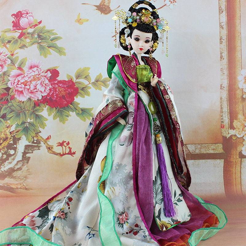 Ancient Costume Doll BJD Limited Edition Collection of High Quality Chinese Doll tang dynasty shangguan wan er 12jointed doll 31cm high end handmade chinese costume dolls limited collection bjd 1 6 moveable
