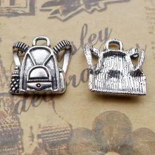 40pcs school bag Antique silver charm pendant 15.8*16.2mm 1.65g Handmade Jewelry Making DIY European Alloy jewelry accessories(China)
