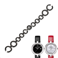 WENTULA watchbands for PINKY BY TISSOT T084.210 stainless steel solid band woman