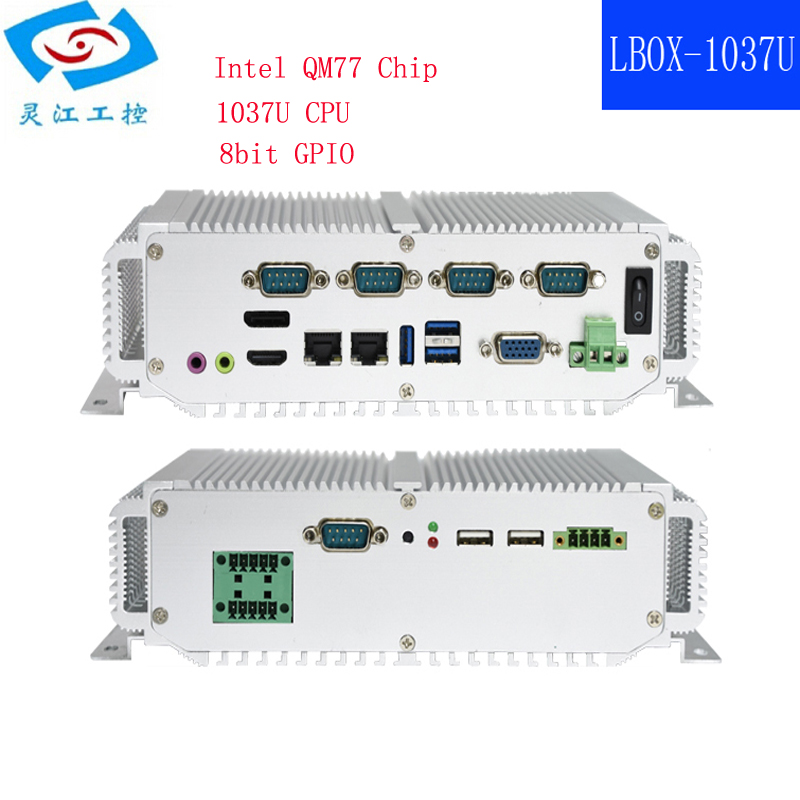 Hot Selling Intel Core I7-3517U Processor 2xlan Fanless Embedded Industrial Mini Computer
