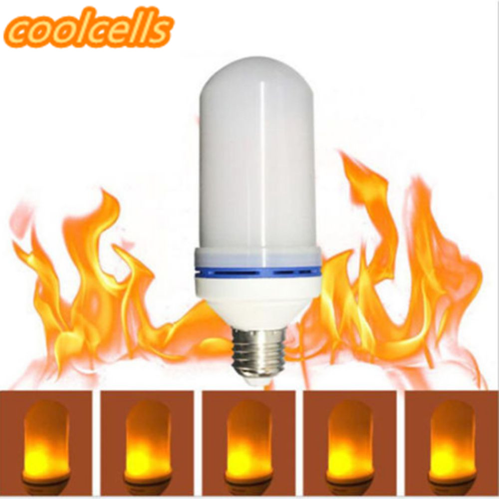New 1 x LED E27 Flame Light Bulb Effect Fire Light Bulb Flickering Flame Lamp Simulated Decorative