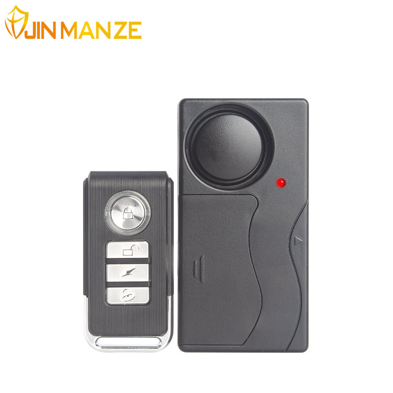 Wireless Remote Control Shock Sensor Alarm Bicycle Home Security Vibration Alarm Door Sensor Window Door Security Alarm System leshp 105db wireless remote control door vibration alarm sensor door window home security sensor detector with remote control