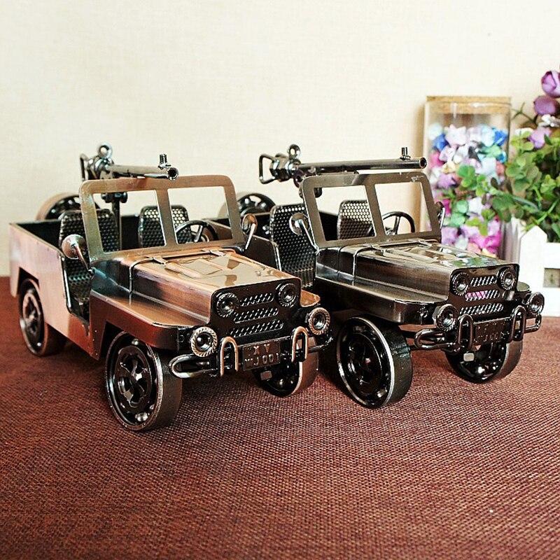 Jouet moulé sous pression véhicules Vintage Batmobile Cool métal militaire Jeep modèle moderne Style européen garçons voiture jouets passe-temps cadeau pour les familles