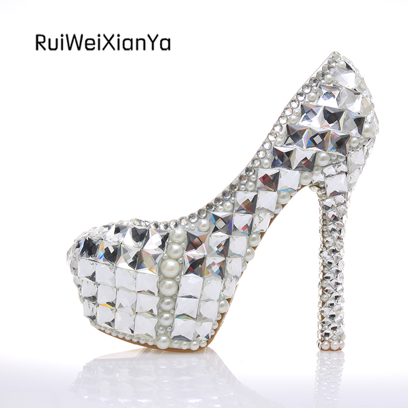 Popular Silver Crystal Heels-Buy Cheap Silver Crystal Heels lots ...