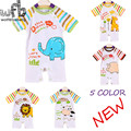 Retail 0-3 years 5 patterns short-Sleeved Baby Infant romper cartoon  for boys girls jumpsuits Clothing clothes