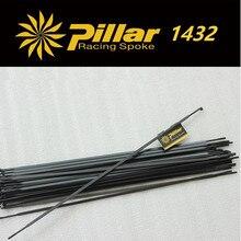 Pillar 1432 Black Spoke Stainless Steel PSR Aero J hook spoke or straight pull for Carbon
