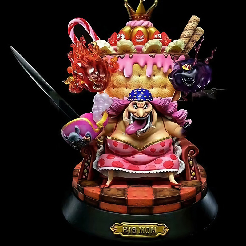 Anime One Piece GK Charlotte Linlin Big Mom PVC Figure Model Toys 23m new anime one piece kaido four emperors edward newgate white beard big mom 24cm pvc action figure model doll toys in boxed