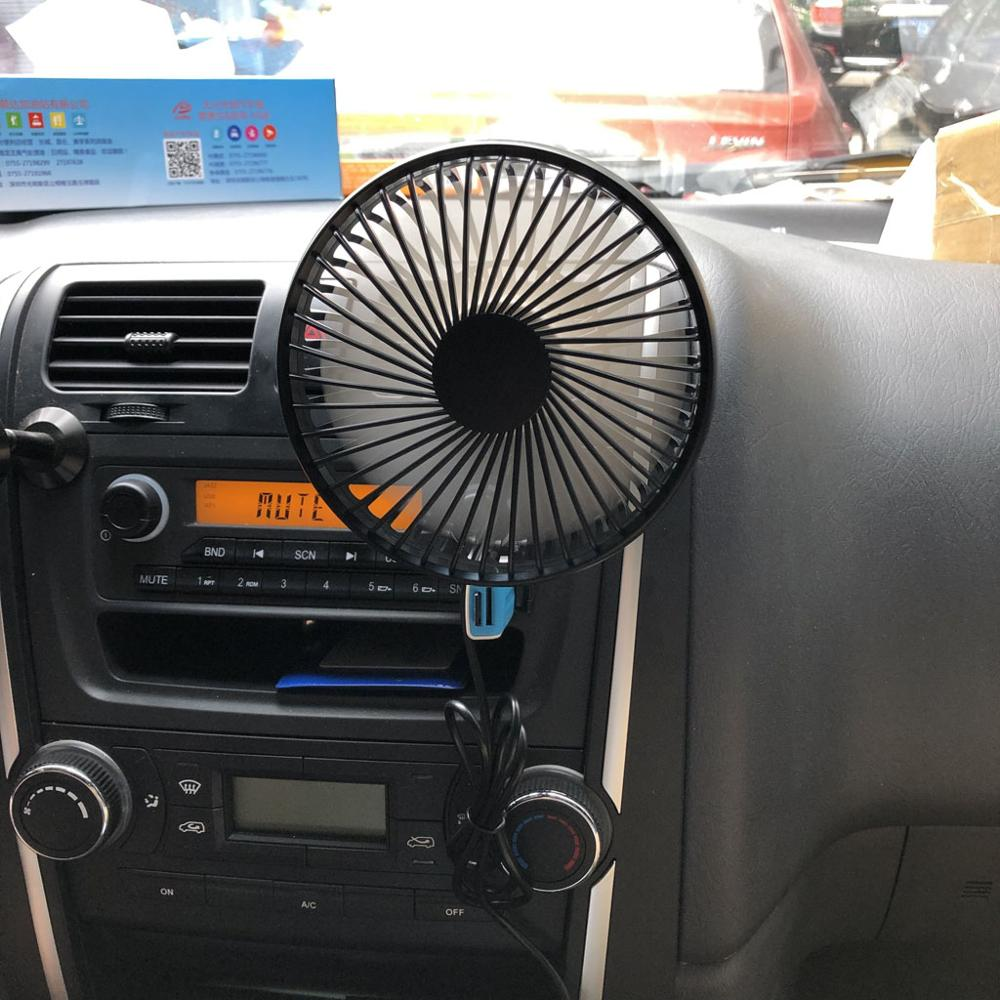 Universal 5V 360 Degree Rotation Adjustable Angle Car Air Vent USB Fan 3 Speed Electric Air Blower Cooling Fan With ON OFF Switc