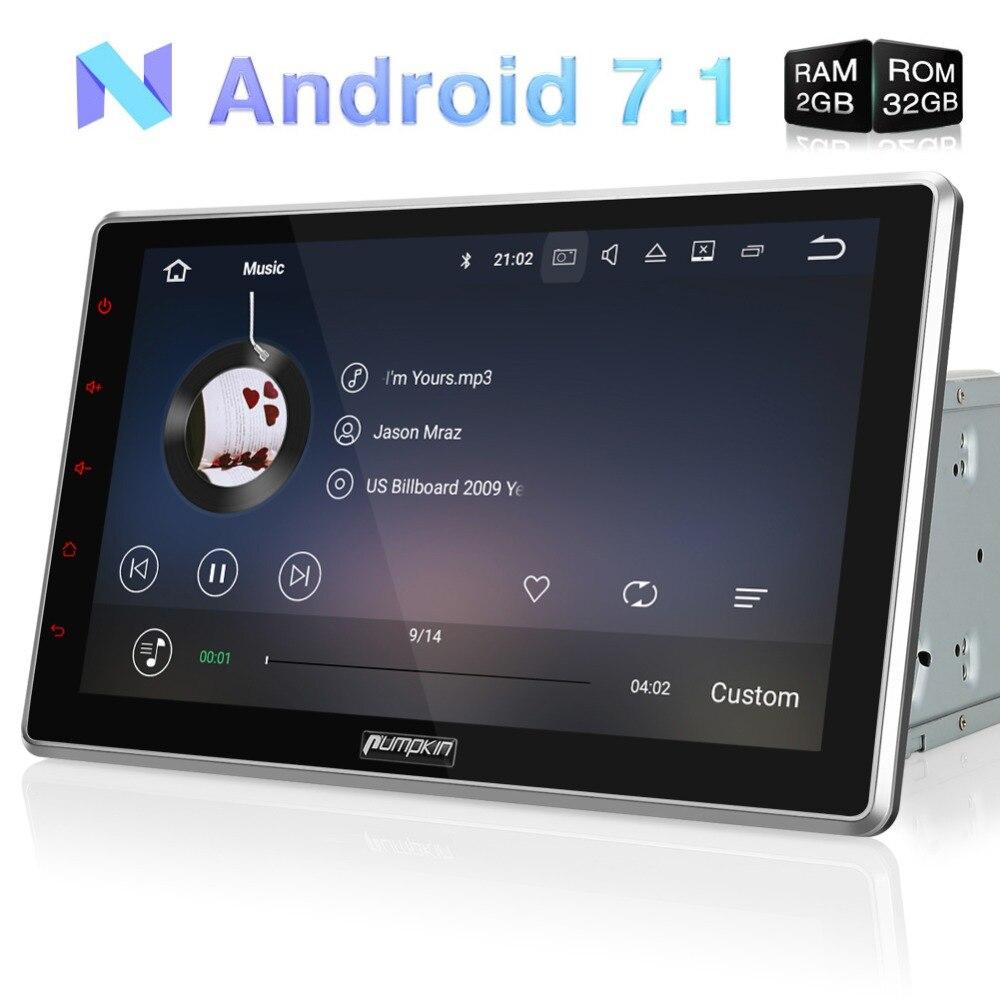 カボチャ 2 Din 10.1 ''android 7.1 ユニバーサルカーラジオ No DVD プレーヤー GPS ナビゲーション 2 ギガバイトの RAM 車ステレオクワッドコア Wifi OBD2 ヘッドユニット  グループ上の 自動車 &バイク からの 車用マルチメディアプレーヤー の中 1
