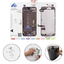 30 x 24 cm 1 Piece Professional Guide Magnetic Screw Mat for iPhone 7 7plus 6 6s 6plus 6splus 4 4s Pad Repair Tools