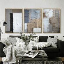 HAOCHU Drieluik Nordic Wit Zwart Grijs Vierkante Foto Moderne Poster Handgeschilderde Canvas Schilderij Wall Art voor Woonkamer Decor