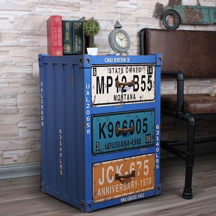 Старый твердой древесины ящиков прикроватные тумбы шкафы для хранения Американский промышленный Стиль Мебель шкафы Интимные аксессуары