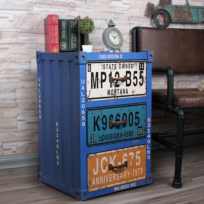 Old Solid Wood Drawers Bedside Drawers Storage Cabinets American Industrial Style Furniture Cabinets Accessories