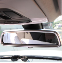 цена на ABS chrome Interior Rearview Mirror Cover Trim For Land Rover Discovery 4 Range Rover Sport Evoque Accessories Car Styling