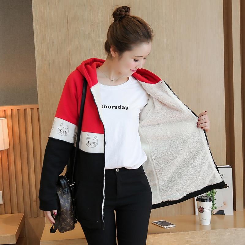 Warm Plus Velvet Sports Hoodie Winter Maternity Jacket Outwear Sweatshirts Clothes for Pregnant Warm Cotton Coat Gravida Jacket недорго, оригинальная цена