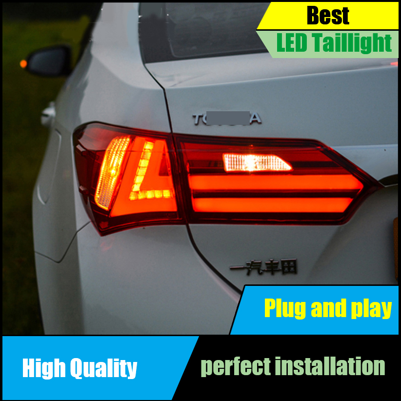 Car Styling for Toyota Corolla Altis Tail Lights 2014 2015 2016 LED Taillight Rear Lamp Driving+Brake+Park+Signal Light new for toyota altis corolla 2014 led rear bumper light brake light reflector novel design top quality fast shipping