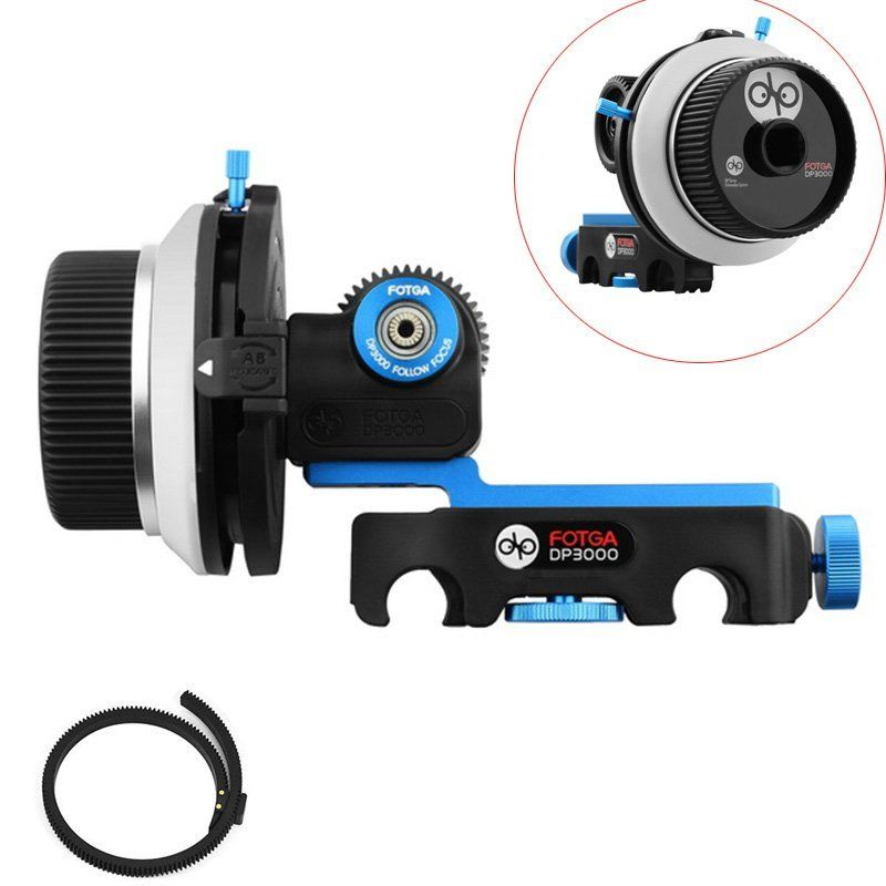 FOTGA DP3000 DSLR snelbevestigingsklem A / B stopt Follow Focus fit voor 15 mm Rod Rig voor Canon sony camera's