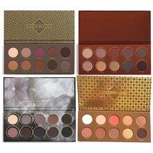 Marca 10 Cores ZOE Smoky Eyeshadow Palette Pigmento Ouro Rosa Pressionado Sombra Em Pó Sombra Paleta de Maquiagem Profesional