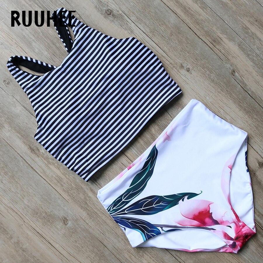 RUUHEE Bikini Swimwear Women 2017 High Waist Swimsuit Bikini Set Push Up Bathing Suit Beachwear Maillot