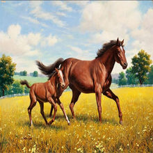 High quality flash cloth wallpaper /3d photo wallpaper stereoscopic animal horse painted wall wallpaper / horse gallop wallpaper(China)