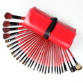 Professional 30 pcs  wool Makeup Brush Set Blush Eyebrow Eyeliner Eye shadow Foundation Brush Cosmetic Brushes Tool Kit gift