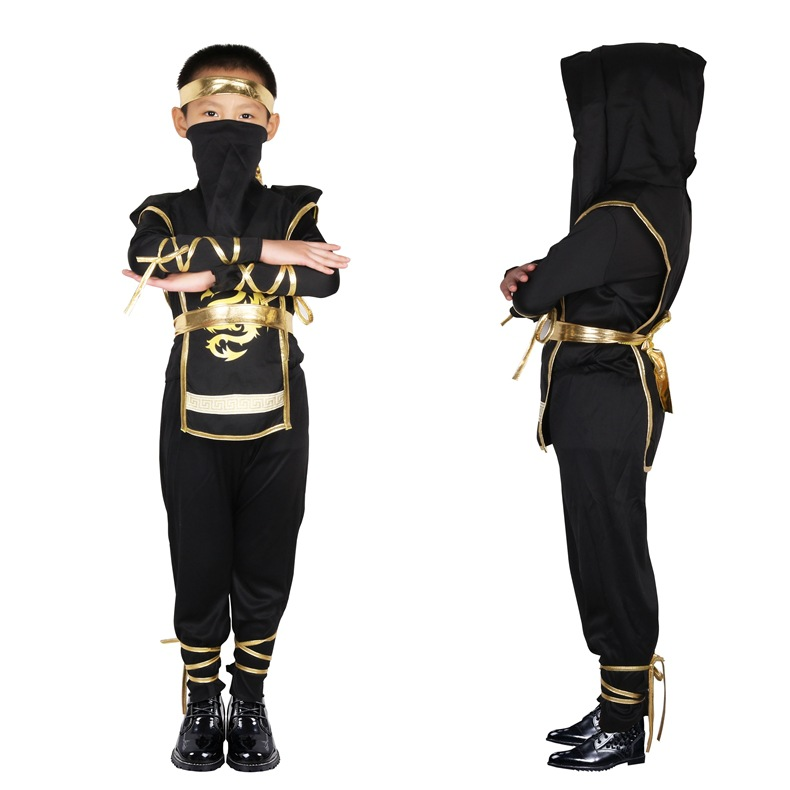 Black Ninjago Cosplay Costume Boys Clothes Sets Children Clothing Halloween Christmas Fancy Party Clothes Ninja Streetwear Suits
