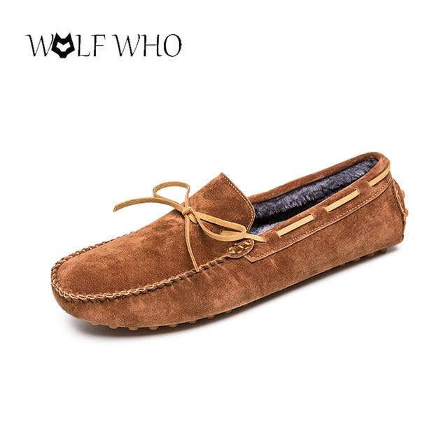 816ae47e9 Mocassins dos homens Sapatos Mocassim de Couro Genuíno Com Pele do Inverno  Tenis Masculino Adulto Manter