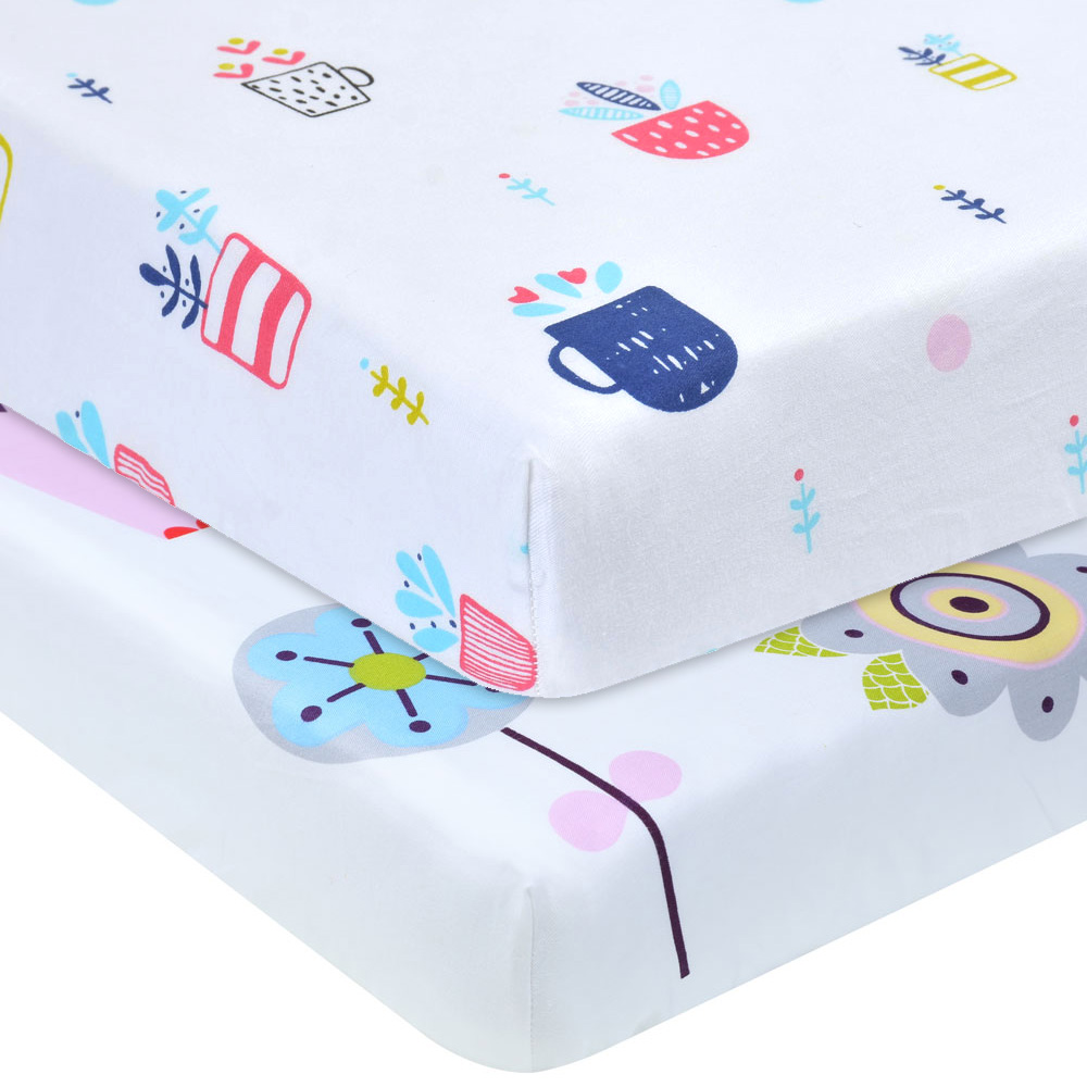 Toddler Mattress Vs Baby Mattress Us 19 73 45 Off Premium Crib Sheets 100 Organic Cotton 2 Pack Baby Fitted Crib Mattress Sheets Fits Standard Baby Mattress Toddler Mattress In