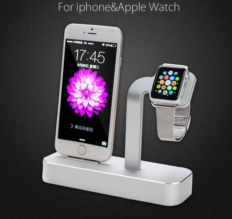 uk availability 016ed 49e03 US $78.99 |COTEetCI Aluminum Dock Charging Station Charger Holder Stand for  Apple Watch Sport Edition iPhone 6 6s plus-in Mobile Phone Holders & ...