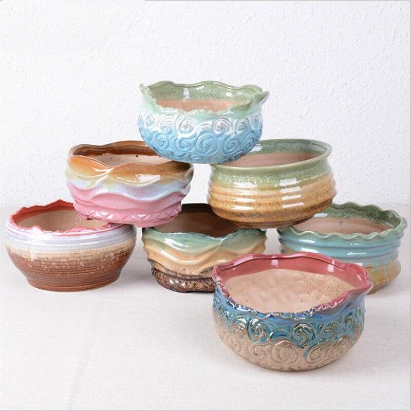 Ceramic Pots For Sale Part - 34: Hot Sale Ceramic Flowerpot Flower Pot Gaeden Pots Decoration Flower Ceramic  Pot Saksi Planter Pots Vasos