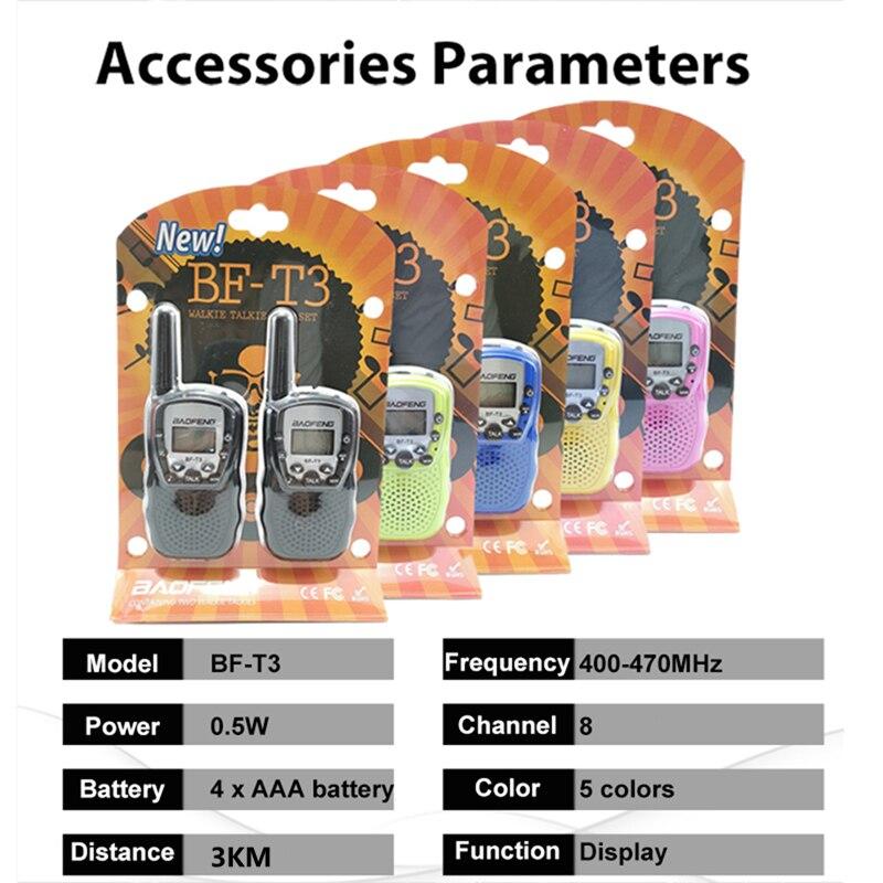 2 tk laste walkie-talkie UHF, BF-T3, Baofeng FRS 1