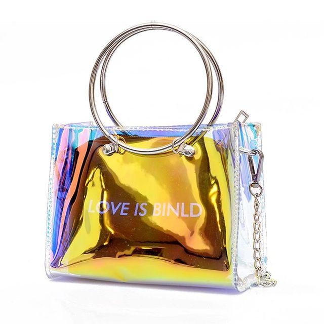 2efe8014f52 JHD Fashion Women Bag Set Shoulder Bag+Clutch For Teenage Girls Fashion  Laser-Jelly Crossbody Bag Circle Handle Tote