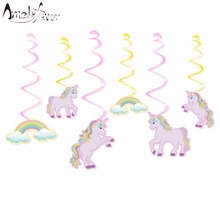 Unicorn Party Ceiling Hanging Swirl Unicorn Birthday Cutout Festive Party Supplies Party DIY Decorations Event Party Baby Shower