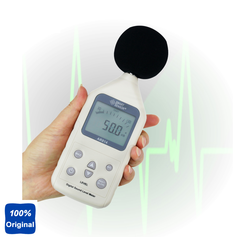 AR814 Digital Sound Level Meter Noise Level Tester Decibel Meter sound size tester bar decibel meter noise tester electronic noise meter sound level meter decibel tester for bar 123x75x27mm