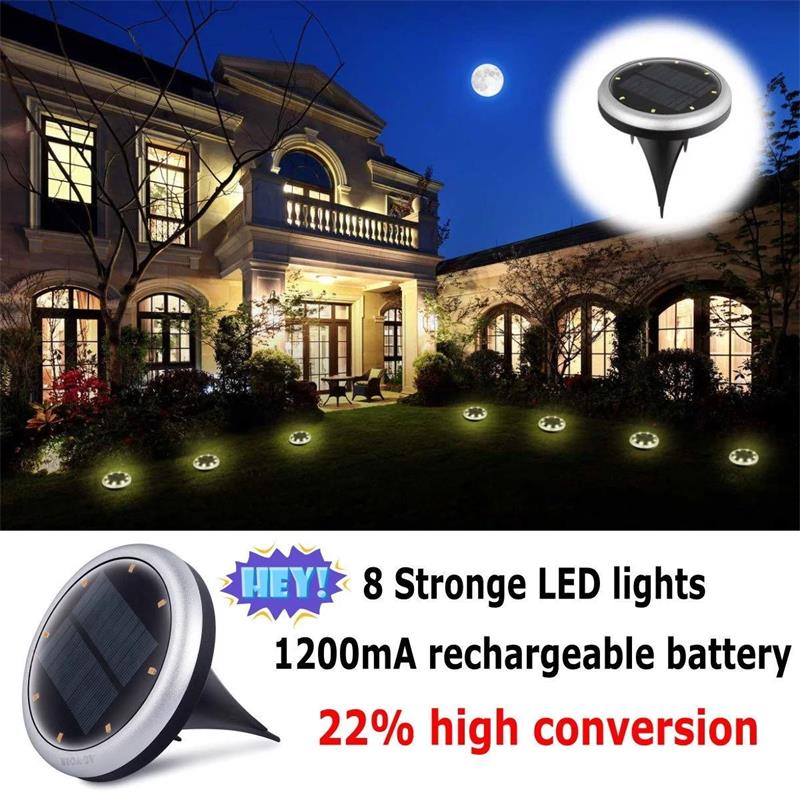 LED Solar Garden Light Solar Power Energy Ground Lawn Lamp With Sensitive Light Sensor Waterproof Outdoor Lights