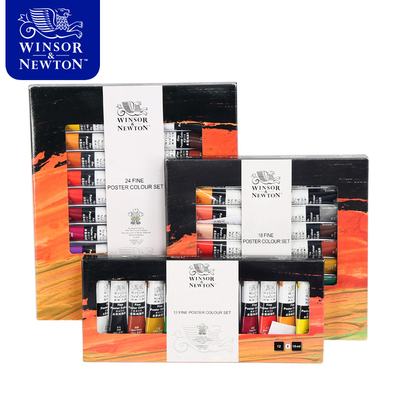 цена на 18 Colors 10ML Winsor Newton Gouache Paint Set Watercolor Paint For Fabric Wall Stone Art Painting Drawing Art supplies