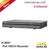 Dahua PoC Series 1 HDD 8 Channel Penta brid 4K Mini 1U Digital Video Recorder H.265+ for 4K XVR HDCVI system XVR5108H 4KL X 8P