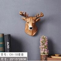 MUXIUWANJIA mounted buck bust deer head trophy wall art hanger wall ornament craft statues Vintage sculpture Home dies