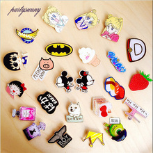 PF Beautiful Girl Badges Brooches Acrylic Pins Women's brooch for Girls Gift Dress Bag Jeans Clothing Accessories Jewelry TS2871