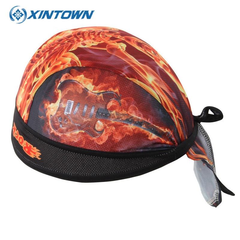 XINTOWN Cycling bandana Cap Headscarf Gorra Ciclismo Sweatproof Bike Hat Mens Quick-dry Sport Bicycle Pirate Headband Bandana